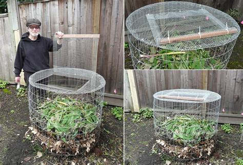 diy compost bin from hardware cloth home design garden