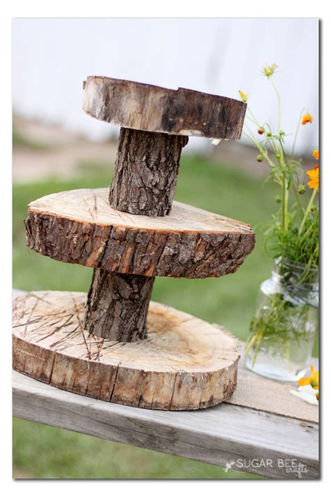 Rustic Wood Cupcake Stand Sugar Bee Crafts