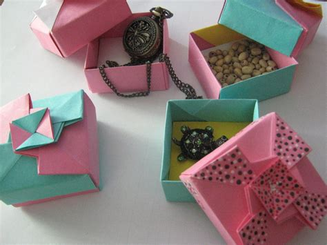 How To Make An Origami Gift Box With Lid - origami gift boxes by darkumah on deviantart