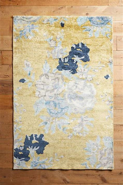 blue and yellow rug blue and yellow floral needlepoint rug