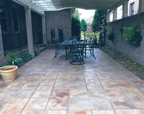 Patio Floor Designs Bullion Coatings Houston Concrete Patio Gallery