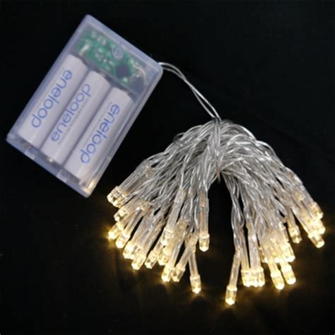 warm white led battery powered mini lights from