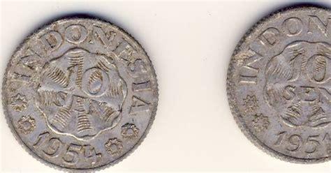 Koin 50 Cent Aluminium Tahun Cur koin kuno indonesia 10 sen 1951 dan 1954