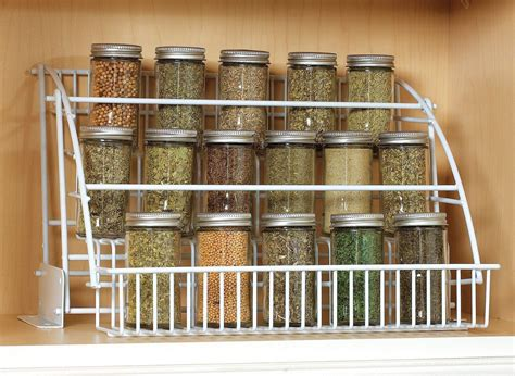 kitchen cabinet spice organizers rubbermaid pull down spice rack organizer shelf cabinet
