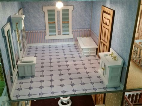 Bathroom Set 3 Pcs Bm010 dollhouse 1 24 1 2in scale bathroom set 3pcs wht ebay