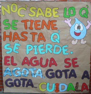 imagenes d pancartas por el dia del agua si no cuidamos el agua simplemente se acabara mi voz