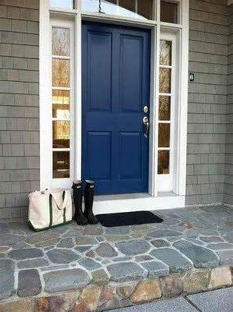 navy front door 27 chic dark front doors to try for your entry shelterness