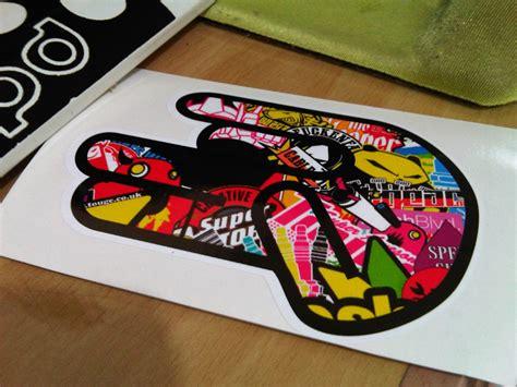 Stiker Mobil Avenger Ukuran 50 Cm X 17 Cm shocker bomb jdm style sticker piggy sticker