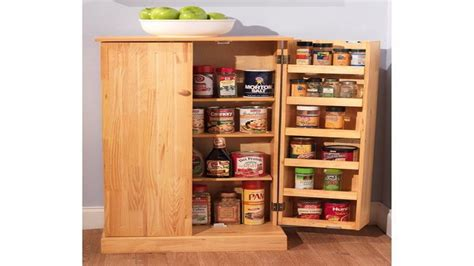 Cabinet Food Pantry Wood Storage Cabinets With Doors And Shelves Kitchen