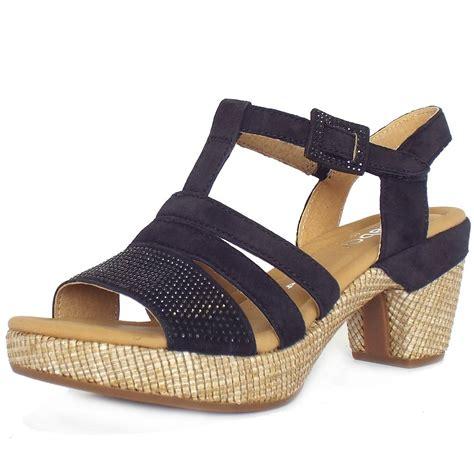 navy sandals for gabor sebring s comfortable modern block heel