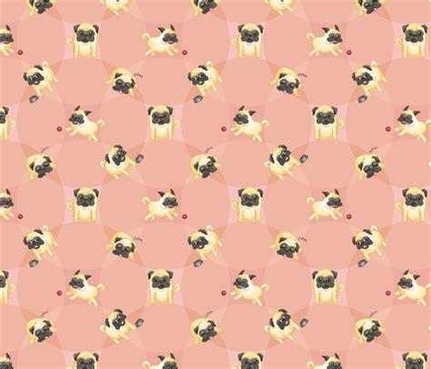 pug print material pugs pink fabric jaana spoonflower