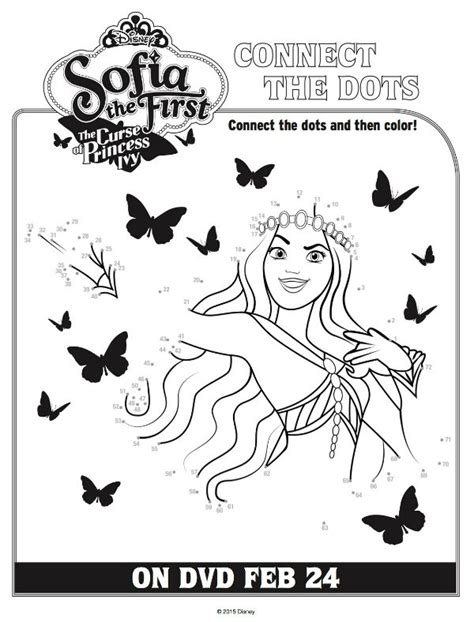 princess ivy coloring pages disney sofia the first curse of princess ivy connect the