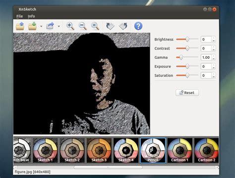 sketchbook linux convert photos to or sketch images in ubuntu via