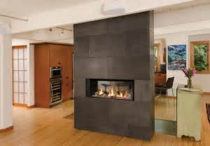 l1 linear series 2 sided fireplace modern vancouver