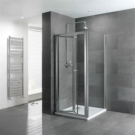Shower Systems Uk Volente Bifold Door Silver Shower Enclosure Buy At