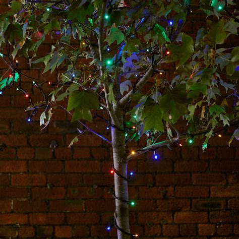 multi coloured led outdoor lights 50 multi coloured led outdoor connectable string lights 5m