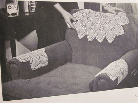 pattern for armchair covers fun facts antimacassar nicole scott designs inc
