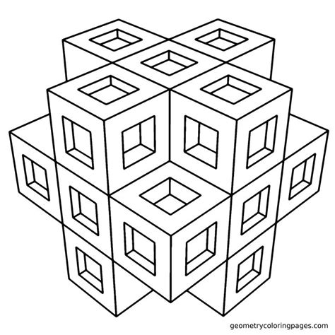 coloring pages geometric geometry coloring sheets free coloring pages