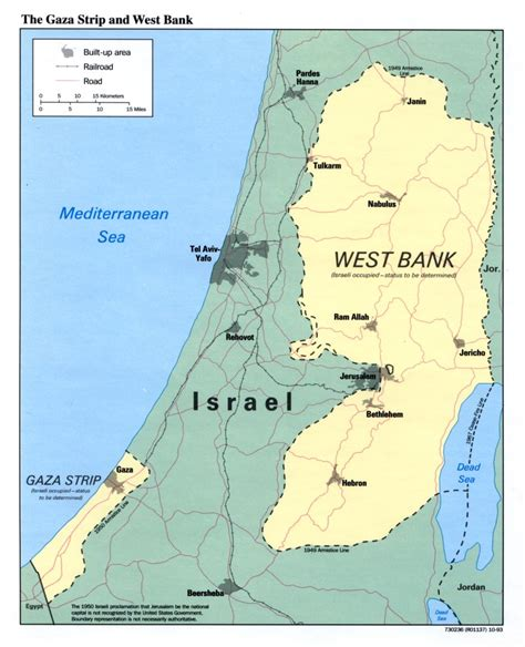 map of israel and palestine palestine