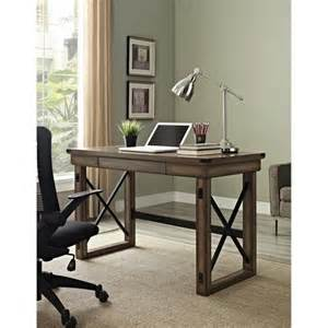 Rustic Home Office Desk Altra Furniture Wildwood Rustic Desk With Metal Frame 484520