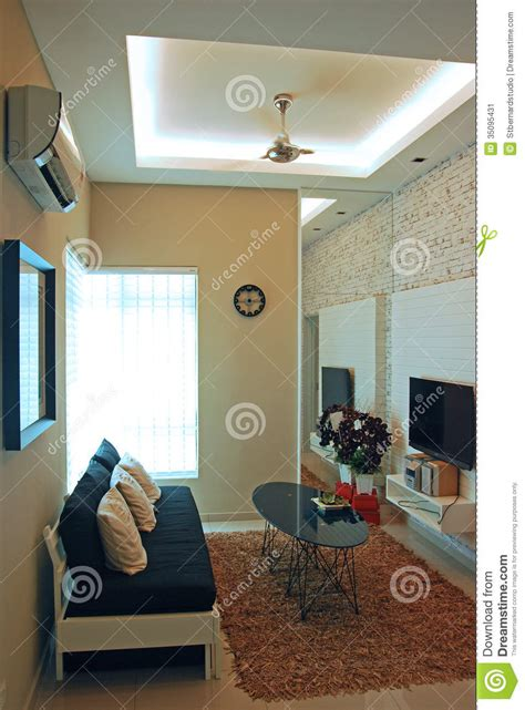 Compact Living Room Design Stock Image Image
