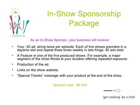 Sponsorship Letter For Hair Show Great Rates To Sponsor Haute Plate Tv Show