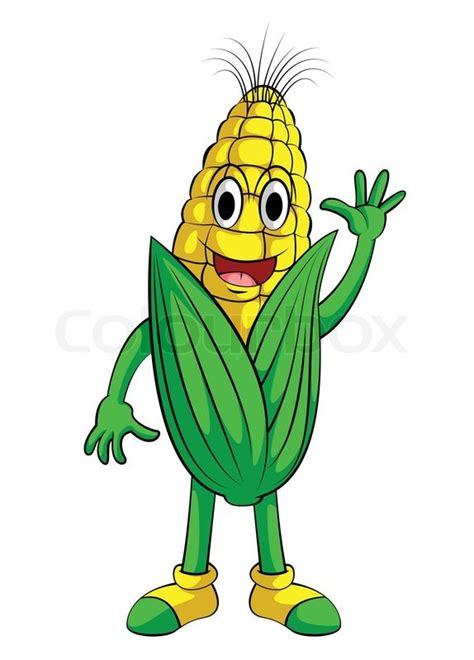 corn smile character stock vector colourbox