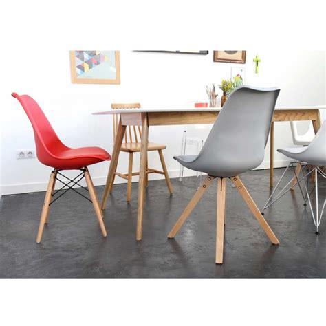 lot de 2 chaises design ormond wood par drawer fr