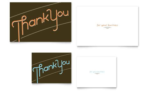 Thank You Card Template Word Half Fold by Thank You Note Card Template Word Publisher