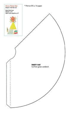 Birthday Cone Hat Template by Free Hat Template Click To Pinteres