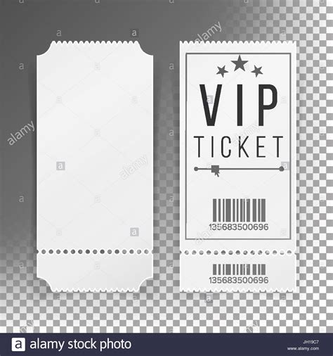 ticket template set vector blank theater cinema train