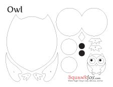 printable owl cut outs best photos of cute owl template printable printable owl