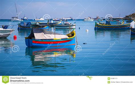boat dealers malta fishing luzzu boats in malta stock photo cartoondealer