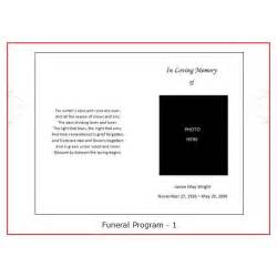 Blank Program Template by Free Blank Funeral Program Templates