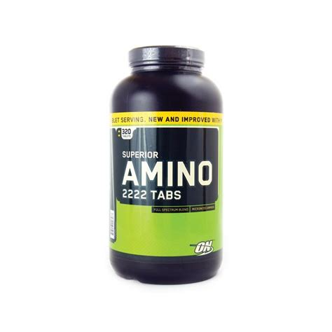 On Amino 2222 320 Tabs optimum nutrition superior amino 2222 2 222 mg 320 tabs