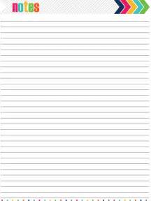 Notes Page Template by 7 Best Images Of Blank Notes Page Printable Blank Notes