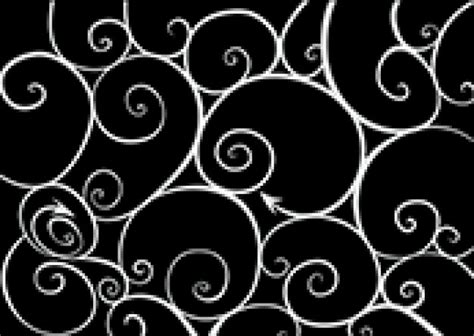 pattern white on black white swirls pattern on black vector free download