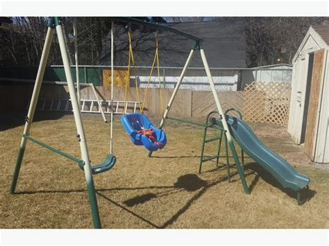 2nd swing hours metal swing set with slide and toddler swing south regina