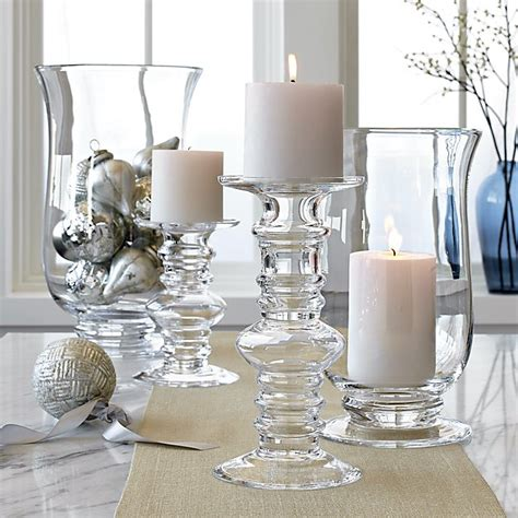 Glass Pillar Candle Holders by Barlow Clear Glass Pillar Candle Holder In Candle