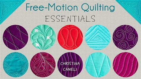free motion quilting essentials quilting class craftsy