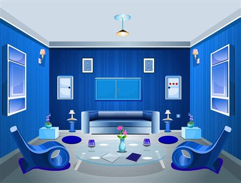 blue interior design living room color scheme