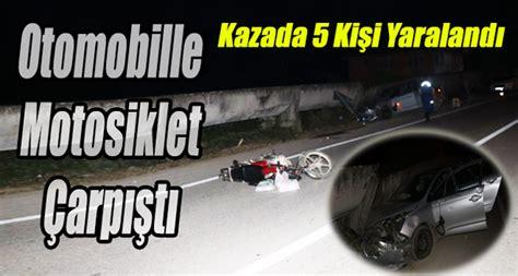 otomobille motosiklet carpisti  yarali akcakoca