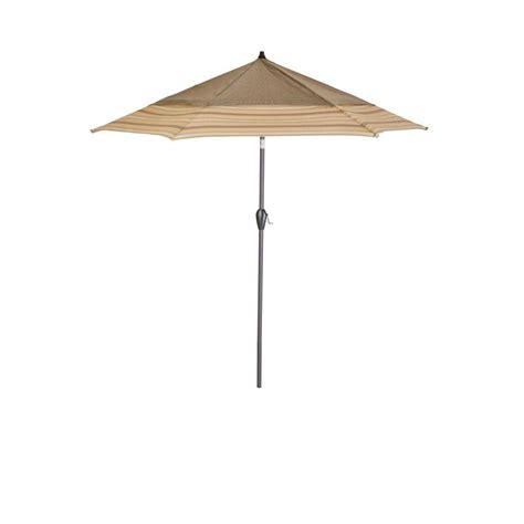 Hton Bay 9 Ft Aluminum Market Patio Umbrella In Saddle Fancy Patio Umbrellas