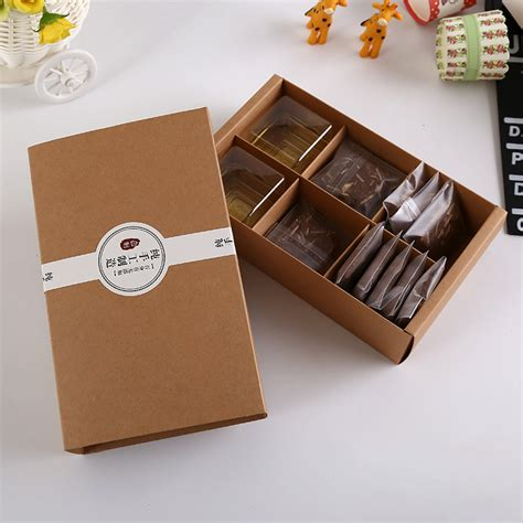 Handmade Jewelry Packaging - brown kraft paper boxes gift craft box drawer style