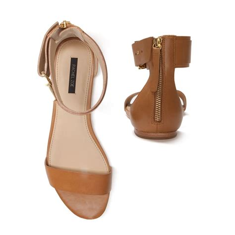 brown ankle sandals zoe ankle flat sandal in brown lyst