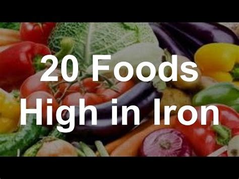 vegetables high in iron 20 foods high in iron