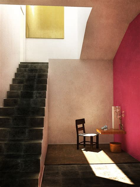 inspiration color block architecture  luis barragan