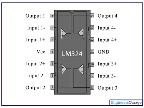 lm324 application circuit diagram lm324 ic pin diagram description lm324n datasheet