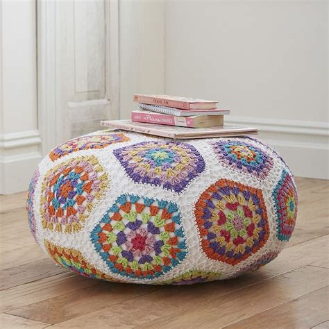 crochet pattern for pouf ottoman crochet pouf company kids crochet pinterest