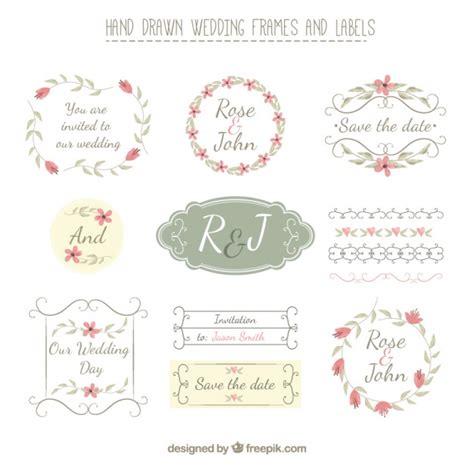 cornici per etichette disegnati a mano cornici di nozze ed etichette in stile